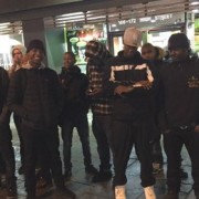 Young people waiting rap battle outside McDonalds on Lewisham High Street. Pic: @Novelist