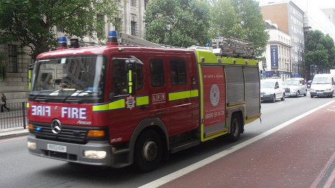 London Fire Brigade. Pic: Alex Drennan