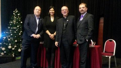 From left to right: Councillor Tony Newman, Labour councillor Hamida Ali, Bishop Jonathan Clark and councillor Mark Watson. Pic: Councillor Tony Newman