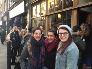 Attendees Phillippa Rounds, Ariana Joharjian and Anna MacAninch. Pic: Alice Harrold.