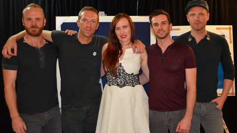 Coldplay with Mila Furstova. Pic: Album Artists
