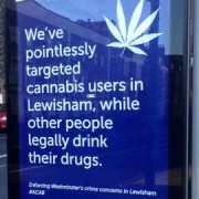 One of the posters in Lewisham. Pic: Bobby Dean