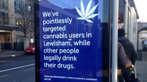 Posters have appeared around Lewisham. Pic: Bobby Dean