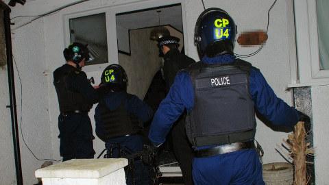 Police raid in Croydon. Pic: Metropolitan Police.