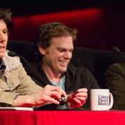 Tig Notaro, Michael C. Hall and Jonathan Lethem at a previous LDM event. Pic: Jason Gutierrez