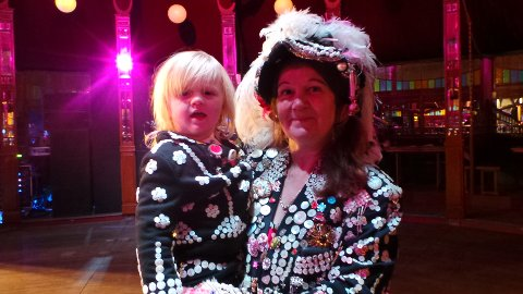 Pearly Princess and Pearly Queen. Pic: Kate Ng