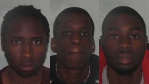 Yahaya Abrahim-Usmen, Ruben Loufimpou and Corey White were sentenced to a total of 44 years. Pic: Metropolitan Police.