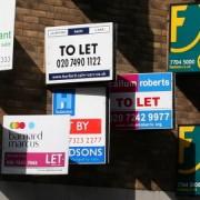 Estate agent signs. Pic: Paul Mison