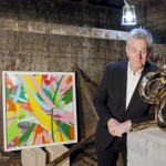 Richard Noble with artwork. Pic: Goldsmiths