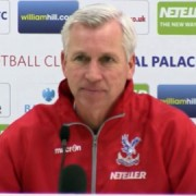 Palace manager Alan Pardew at the press conference. Pic: Cpfc.co.uk