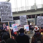 March for Homes on Shoreditch High Street. Pic: Hannah Calder