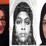 Left to right: Kadiza Sultana,  Amira Abase and Shamima Belgum. Pic: Metropolitan Police