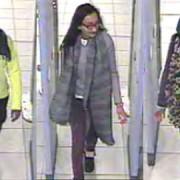 CCTV image of Amira Abase, Kadiza Sultana and Shamima Belgum (left to right). Pic: Metropolitan Police