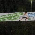 The Croydon Community Football League banner. Pic: Marthe Holkestad