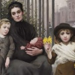 """The Pinch of Poverty"" (detail). Painting by Thomas Benjamin Kennington. Pic: Geffrye Museum"