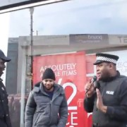 Video showing the rap duel between the police impersonators and rappers. Pic: Trollstation