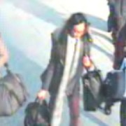 The three girls captured on CCTV in Gatwick airport.. Pic: Metropolitan Police