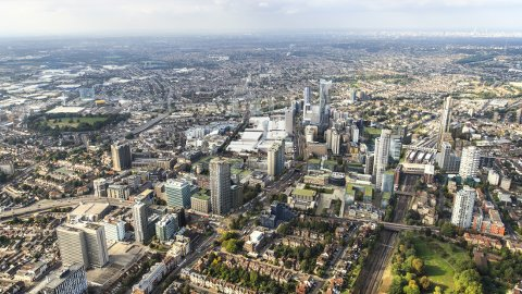 An artist's rendition of Croydon in 2020. Pic: Croydon Council