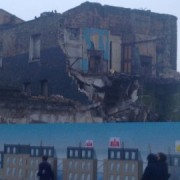 Partly demolished buildings in Dalston Lane. Pic: Emma Henderson