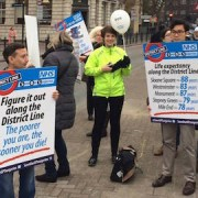 Patients and GPs have protested against the NHS funding cuts that could lead to the closure of The Limehouse Practice Pic: