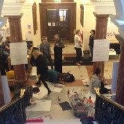 Deptford Town Hall has been under protester occupation since Thursday Pic: Daniel Nasr