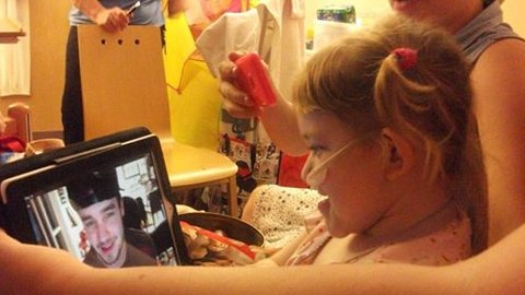 Lucy received a Skype call from One Direction's Liam Payne Pic: Lynn Baker.jpg