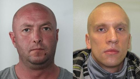 Malkowski (left) and Ochecki (right) are wanted in Poland. Pic: Met Police