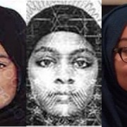 Left to right: Shamima Belgum,  Amira Abase and Kadiza Sultana. Pic: Metropolitan Police