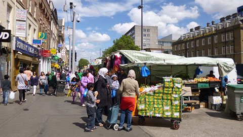 Whitechapel Highstreet. Pic: Mike Faherty