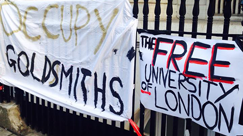 "Students occupy Deptford Town Hall over Goldsmiths ""mismanagement."" Pic: Toby Rodham"
