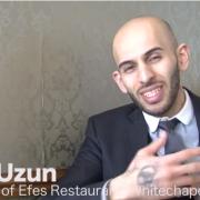Sait Uzun, manager of Efes Restaurant in Tower Hamlets. Pic: Kate Ng
