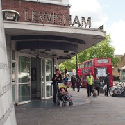 The stabbing  occurred in next to Lewisham Library in Lewisham High Street. Photo: Anna Mellin