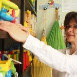 Karin Schnabel working at the Lewisham Toy Library in Catford Pic: Anna Mellin