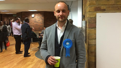 Jack Tinley, conservative candidate for Hackney South and Shoreditch. Pic: Joshua Poncil