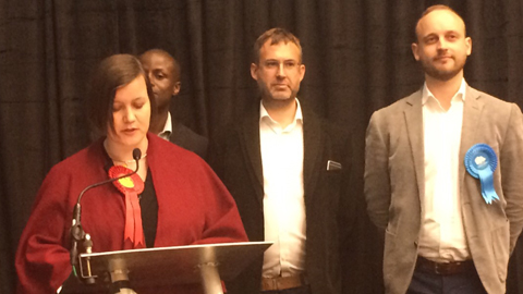 Labour's Meg Hillier (left) secured a third term in Hackney South and Shoreditch. Pic: Joshua Poncil