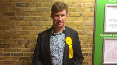 Simon de Deney, Lib Dem candidate for Hackney North and Stoke Newington. Pic: Lindsay Crocket
