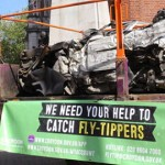 Van used in fly-tipping is crushed by Croydon Council. Pic: Croydon Council