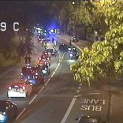 Traffic delays around Clapton Common after the collision. Pic: @TfLTrafficNews