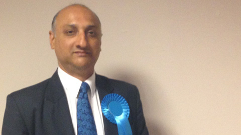 Conservative Vidhi Mohan conceded just moments ago in Croydon Central. Pic: Lauren Rickard