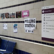 Inside a Croydon Central polling station. Pic: Oliver Imhof