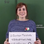 A caption of Bahar Mustafa´s campaign video for Welfare and Diversity Officer. Video: Goldsmiths´Studen Union
