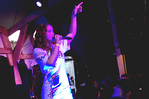 Singer Katy B. performed at Kopperberg Urban Forest Pic: Caitlin Burns