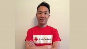 David Cheng volunteers for the British Red Cross alongside his studies.