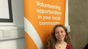 Lauren Tobias, CEO of Volunteer Centre Hackney at the Volunteers Fair. Pic: Aleksandra Michalik