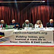 Mayoral candidates in Tower Hamlets gathered monday night to answer questions from the LGBT community in the borough. Pic: David Cheng