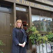 St. David Coffee House owner Sian Polhill-Thomas Pic: Aleksandra Michalik