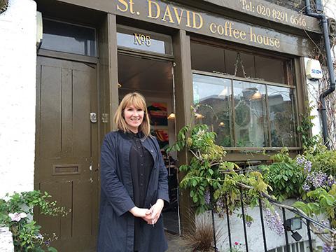 St. David Coffee House owner Sian Polhill-Thomas Pic: Aleksandra Michalik