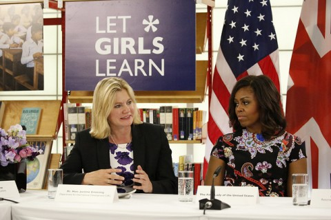 michelle obama and justine greening