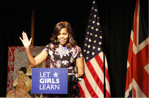 michelle obama at tower hill school