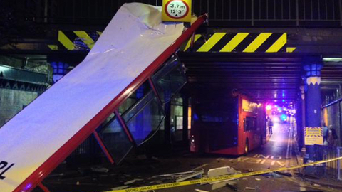 Devastation after the roof was ripped off Pic: London Ambulance Service